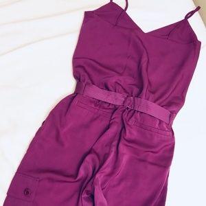 Ralph Lauren women's grape jumpsuit ~ MISSING BELT